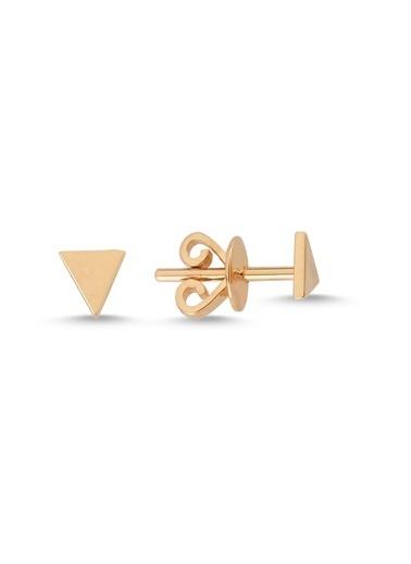 LUXO Diamond Altın Küpe Pembe